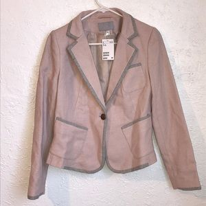 Pink and gray H & M blazer